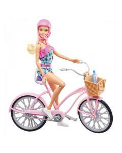 Boneca Barbie e Bicicleta Mattel - FTV96