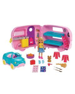 Boneca Barbie E Veículo Trailer Da Chelsea Mattel - FXG90