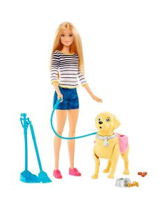 Boneca Barbie Família Passeio com o Cachorrinho Mattel - DIVERSOS