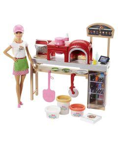 Boneca Barbie Pizzaiola FHR09 Mattel - Colorido
