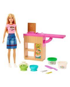 Boneca Barbie Playset Máquina De Macarrão Mattel - GHK43