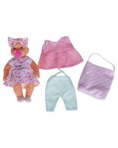 Boneca Bebê da Mamãe Com Roupinhas DV236 DB Play - Rosa