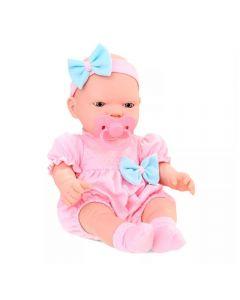 Boneca Bebê Real Primeiros Cuidados 5683 Roma - Rosa