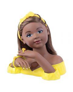 Boneca Charmosa Negra Busto Cabeleireira Cotiplás - 2423