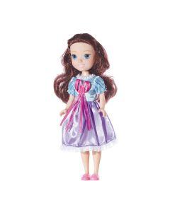 Boneca Clarinha Vestido de Princesa 25cm Nova Brink - Marrom