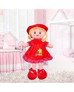 Boneca de Pano Média Havan - Vermelho