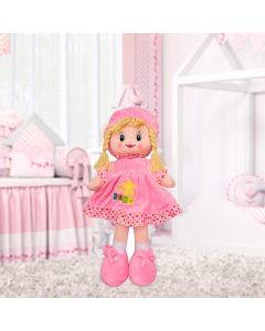Boneca de Pano Pequena Havan - Rosa Claro