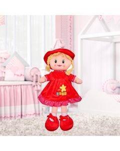 Boneca de Pano Pequena Havan - Vermelho