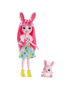 Boneca Enchantimals com Bichinho Mattel - Bree Bunny 2