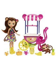 Boneca Enchantimals Conjunto Veículos Mattel - Merit Monkey