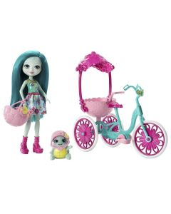 Boneca Enchantimals Conjunto Veículos Mattel - Taylee Turtle