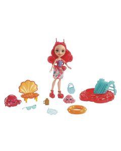 Boneca Enchantimals FKV58 Mattel - Cameo Crab