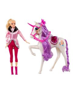 Boneca Giselly com Cavalo Havan - HBR0048 - Branco