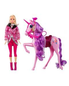 Boneca Giselly com Cavalo Havan - HBR0048 - Rosa