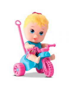 Boneca Litlle Dolls Com Triciclo Menina Divertoys - 8110