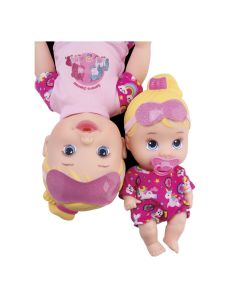 Boneca Little Collection Festa do Pijama 8030 Divertoys - Rosa