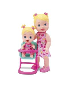 Boneca Little Collection Hora da Papinha Loira Divertoys - 8029