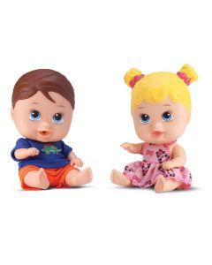 Boneca Little Dolls Gêmeos 8037 DiverToys - Colorido