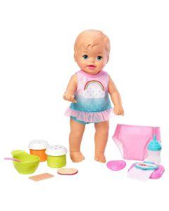 Boneca Little Mommy Bebê Faz Xixi Deluxe Fisher-Price - ROSA