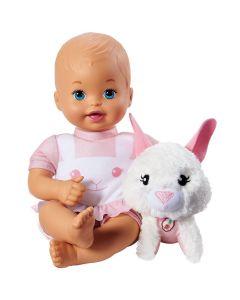 Boneca Little Mommy com Bicho de Pelúcia - Rosa