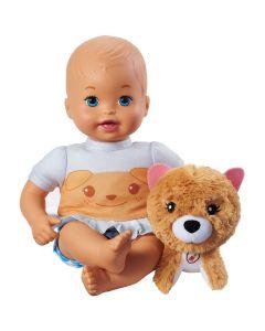 Boneca Little Mommy com Bicho de Pelúcia - Azul