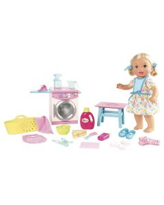 Boneca Little Mommy Hora de Comer e Lavar Fisher-Price - Rosa