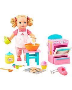 Boneca Little Mommy Pequena Chef com Acessórios Mattel - ROSA