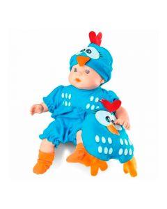 Boneca Mini Baby Galinha Pintadinha 5604 Roma - Azul