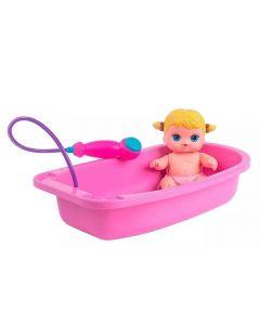 Boneca Nenequinha Chuveirinho Super Toys - 378 - Rosa