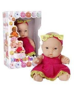 Boneca Nenequinha com Vestido Super Toys - Rosa