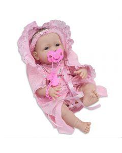 Boneca New Born Faz Xixi Divertoys - 8046 - Rosa