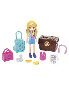 Boneca Polly Pocket Kit De Viagem Gdm12 Mattel - Azul
