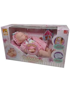 Boneca Valentina com Canguru Bee Toys - Rosa