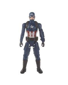 Boneco Capitão América Vingadores Titan Hero 2.0 Hasbro - Azul