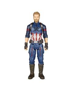 Boneco Capitão América Titan Hero 30cm Hasbro - Azul