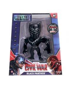 Boneco Guerra Civil Marvel Metal 10cm 3867 DTC - Pantera Negra