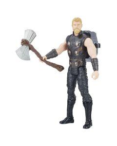 Boneco Thor Vingadores Titan Hero E0606 Hasbro - Preto