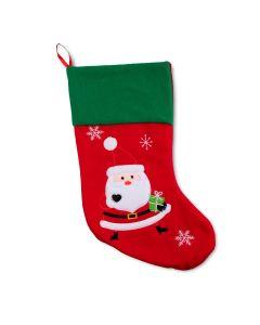 Bota Natalina do Papai Noel com Presente Havan - Vermelho