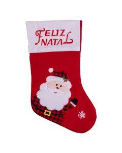 Bota Natalina Papai Noel e Neve Havan - Vermelho