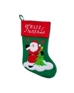 Bota Natalina Verde do Papai Noel Havan - Verde