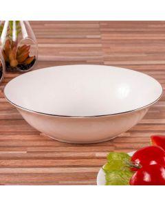 Bowl de Porcelana Bone China 1,39 Litros Finecasa - Branco