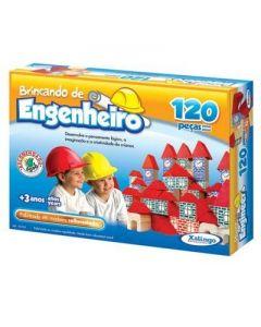 Jogo Brincando de Engenheiro 120 Peças Xalingo - DIVERSOS