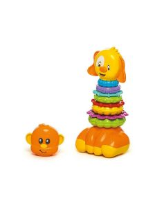 Brinquedo de Encaixe Zoo Argolas 866 Calesita - Laranja