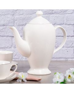 Bule Chá Porcelana Bone China 1,65L Havan - Branco