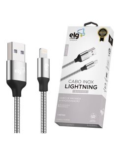 Cabo Lightning MicroUSB 1M Inox INX810 ELG - Prata