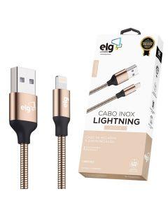 Cabo Lightning MicroUSB 1M INX810 Inox ELG - Dourado