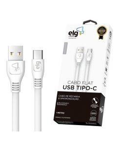 Cabo USB Tipo-C 1 Metro ELMC10 ELG - Branco