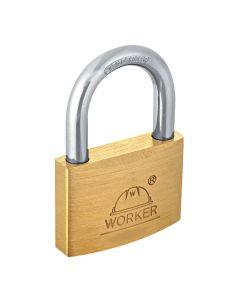 Cadeado Grande de Latão 45mm Simples Dourado Worker - DIVERSOS