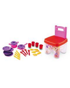 Cadeira Blocos de Montar Cozinha Dismat - Vermelho