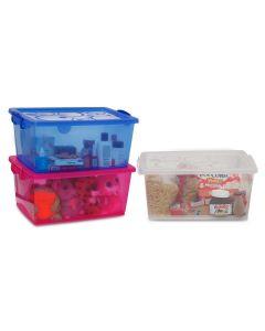 Caixa Organizadora Bel com Travas 15 litros Ordene - CRISTAL